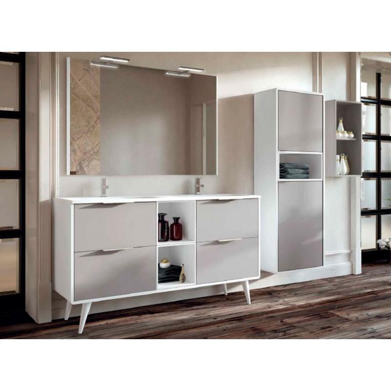 Mueble de ba o de dos senos modelo vintass con cuatro cajones - Mueble bano dos senos 150 ...